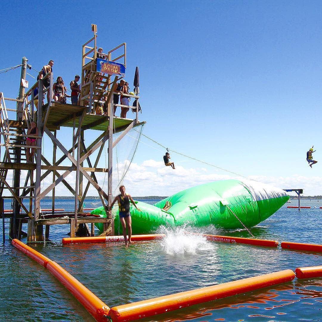 Aquapark, jeux sur le lac de Biscarrosse