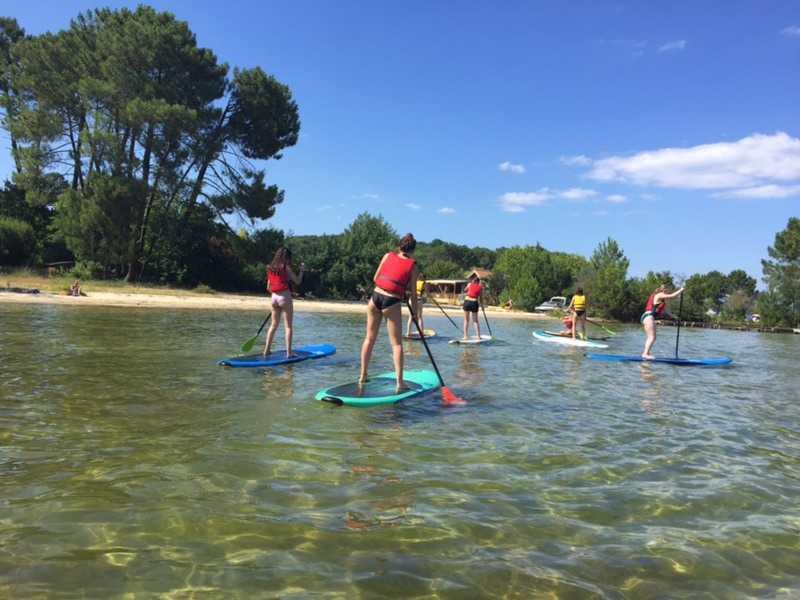 Paddle sur le lac de Biscarrosse