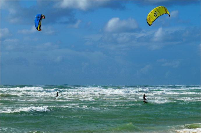 kite-surf à l'océan
