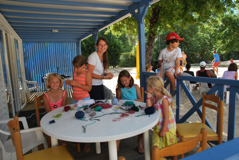Activités ludiques pour les enfants au camping à Biscarrosse