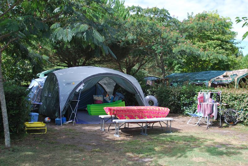 Emplacement pour tente à Biscarrosse