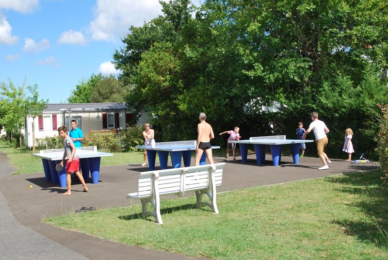 Des tables de ping-pong sont à votre disposition
